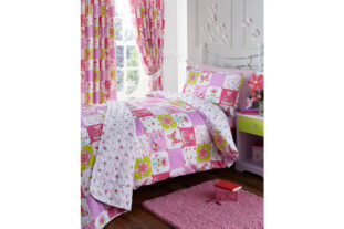 Pretty Patchwork Single Quilted Throw