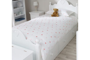 Leila Heart Single Duvet Set