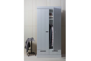 Manhattan Grey 2 Door Wardrobe