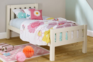 Jubilee Single Bed in Ivory White