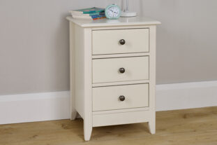 Jubilee 3 Drawer Bedside in Ivory White