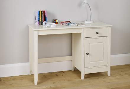Jubilee Desk in Ivory White