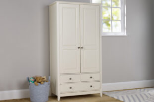 Jubilee Double Wardrobe in Ivory White