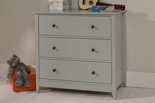 Jubilee Wide 3 Drawer Chest Soft Grey