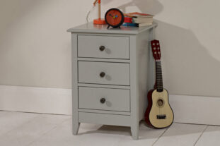 Jubilee 3 Drawer Grey Bedside Table