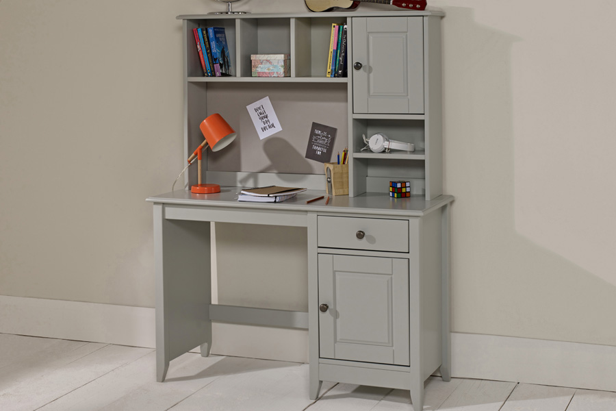 Phenomenal Jubilee Room Set F Single Bed Underbed Drawer Desk With Hutch 3 Drawer Chest In Soft Grey Download Free Architecture Designs Scobabritishbridgeorg