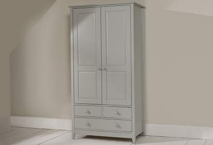 Jubilee Double Wardrobe in Soft Grey