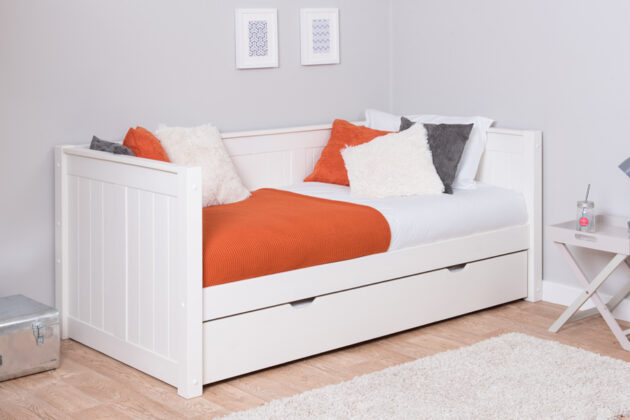 Stompa CK White Day Bed With Trundle