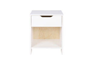 Boston White Single Drawer Bedside