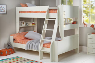 Solitaire White Triple Bunkbed