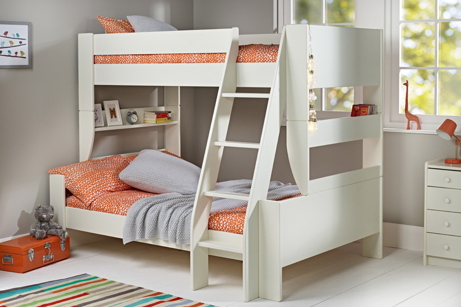 Solitaire White Triple Bunk Bed