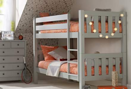 Jubilee Chunky Bunk Bed in Soft Grey