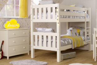 Jubilee Bunk Bed in Ivory White