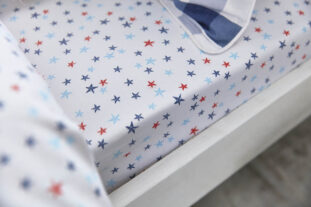 Stars Single Fitted Sheet (90x190cm)