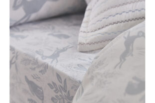 Hare Single Fitted Sheet (90x190cm)