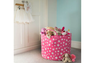Pink Star Toy Basket