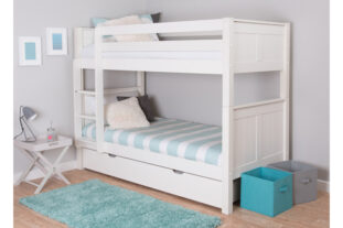 Stompa CK White Wooden Bunk Bed