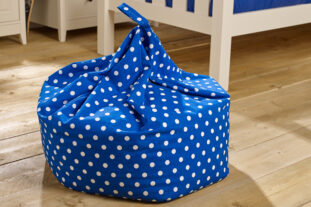 Blue Dot Bean Bag