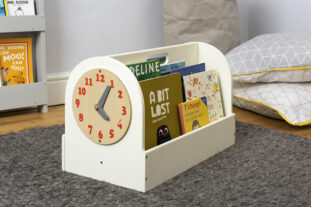 Book Box with Play Clock (Soft White)