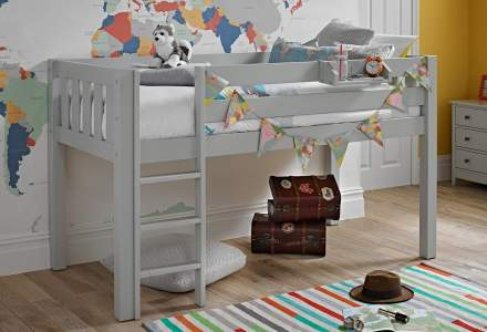 Jubilee Midsleeper Bed - Soft Grey