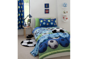 Football Blue Single Duvet Set