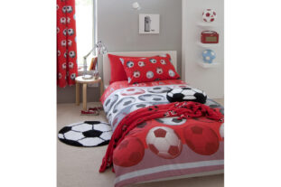 Football Red Single Duvet Set