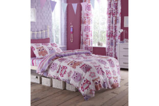 Pink Owl Single Duvet Set