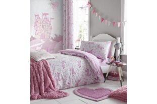 Folk Unicorn Single Duvet Set
