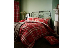 Kelso Red Single Duvet Set