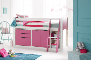 Scallywag Cabin Bed with Chest, Cupboard and Shelving Unit