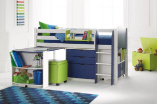 Scallywag Cabin Bed with Pull out Desk, Chest and Storage Unit