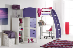 Scallywag High Sleeper with Desk and Storage Unit
