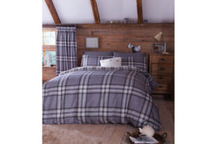 Kelso Double Charcoal Duvet Set