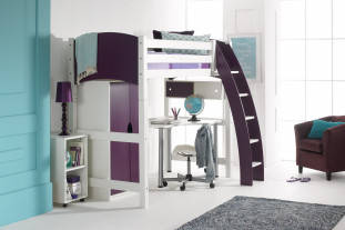 Scallywag High Sleeper with Desk and Wardrobe