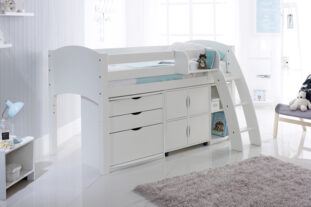Scallywag Cabin Bed with Chest, Quad and Shelving unit