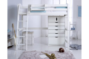 Scallywag High Sleeper with 5 Drawer chest