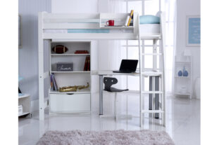 Scallywag High Sleeper with Bookcase and Desk