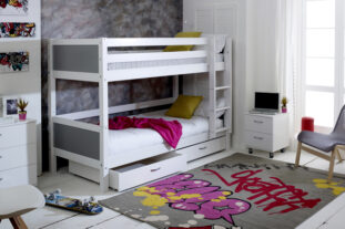 Nordic Bunk Bed 2 with under bed drawers (colour panels)