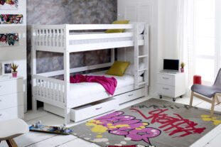 Nordic Bunk Bed 2 with under bed drawers (slatted panels)
