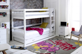 Nordic Bunk Bed 3 with Trundle Bed (slatted end panels)