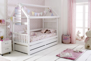 Nordic Playhouse Bed 2 with drawers