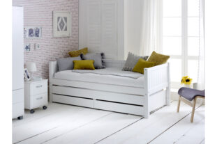 Nordic Day Bed with drawers & trundle (grooved end panels)