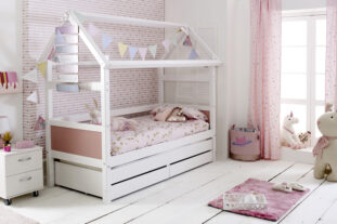 Nordic Playhouse Bed 1 with drawers