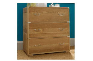 Hoxton 3 Drawer Oak Chest