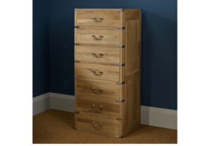 Hoxton 7 Drawer Tallboy Oak Chest