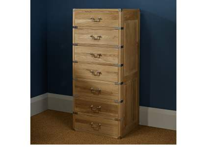 Hoxton 7 Drawer Tall Oak Chest