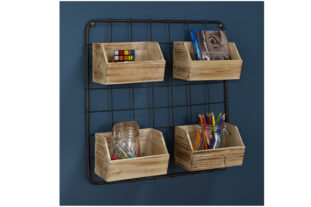 Hoxton Wooden Wall Storage Boxes