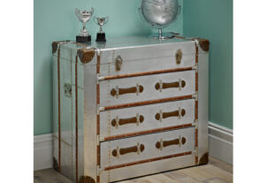 Jules Silver 3 Drawer Chest