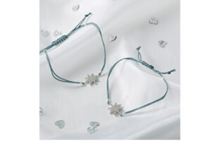 Mother & Daughter Star Bracelet Set - Grey