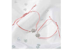 Mother & Daughter Star Bracelet Set - Pink